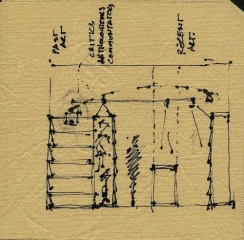 Printed Matter Bookstore Napkin Drawing_500